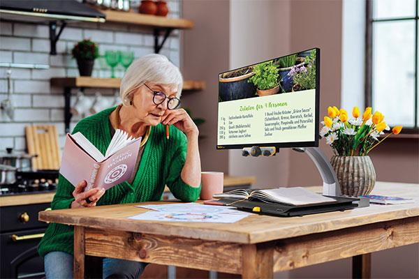 Old Woman With Eyeglasses Reading