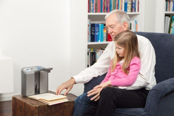 Listening ClearView Audio Text Reader With Grandchild